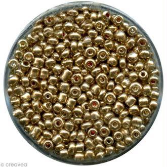 Perle de rocaille métallisée Doré - 2,5 mm x 15 g