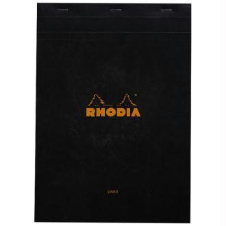 Bloc agrafé Rhodia A4 Black N 18 21x29,7cm 80F ligné + marge 80g