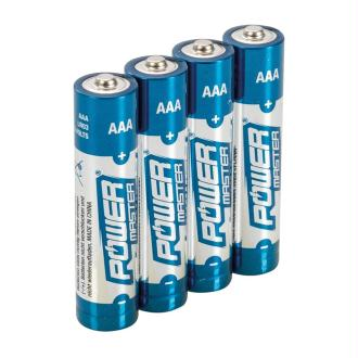 Lot de 4 piles alcalines LR03 type AAA Power Master 1.5 V