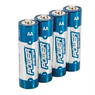 Lot de 4 piles alcalines LR6 type AA Power Master 1.5V