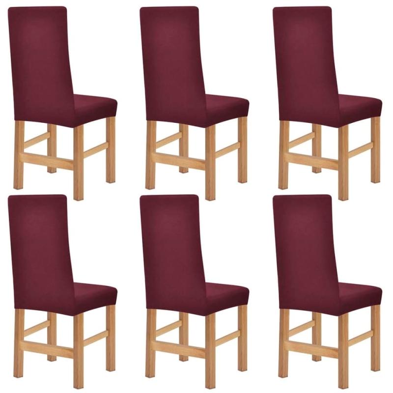 vidaxl housses de chaise en polyester tricot extensible 6. Black Bedroom Furniture Sets. Home Design Ideas