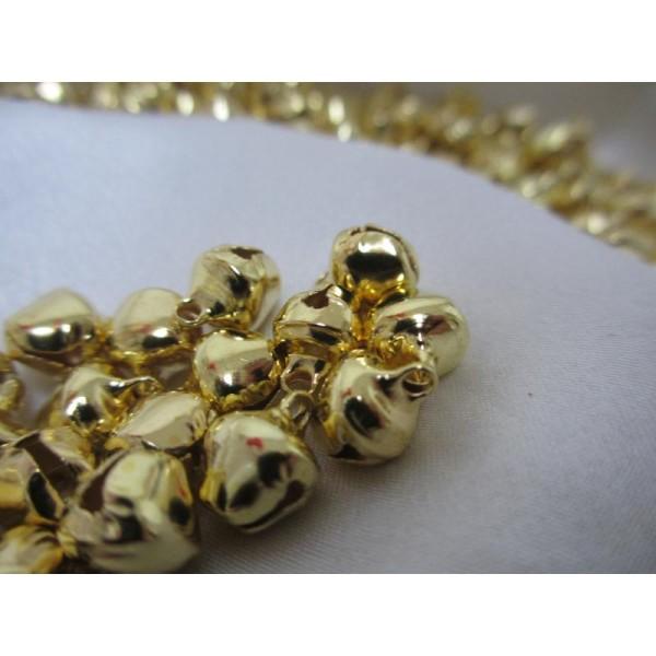 Grelots dorés * 50 pièces,12mm*10*8mm - Photo n°2