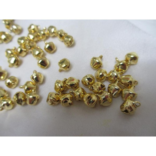Grelots dorés * 50 pièces,12mm*10*8mm - Photo n°3