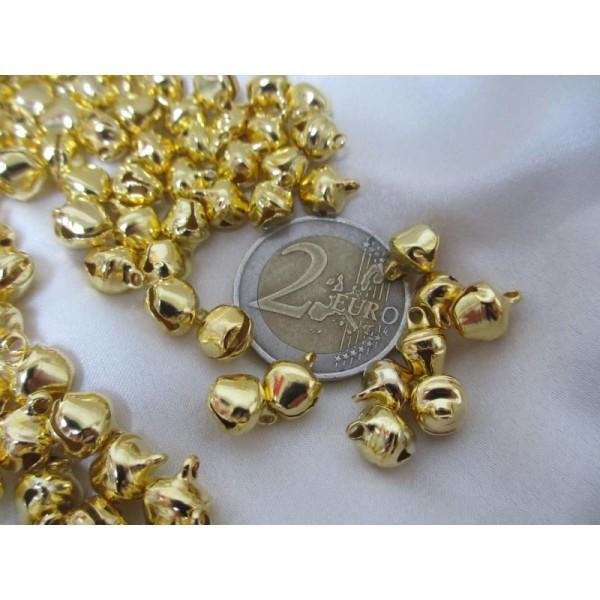Grelots dorés * 50 pièces,12mm*10*8mm - Photo n°4