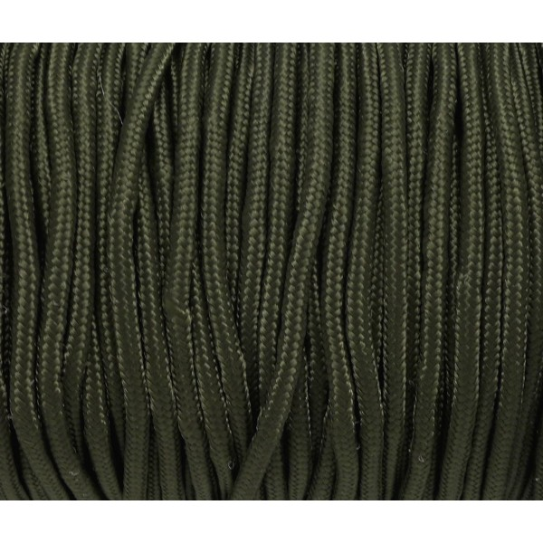 2m Paracorde 3mm Cordon Nylon Tressé Corde Nylon Gainé Uni Vert Militaire - Photo n°2