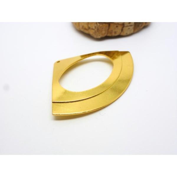 Pendentif Eventail - 48.5*34mm - doré - Photo n°1