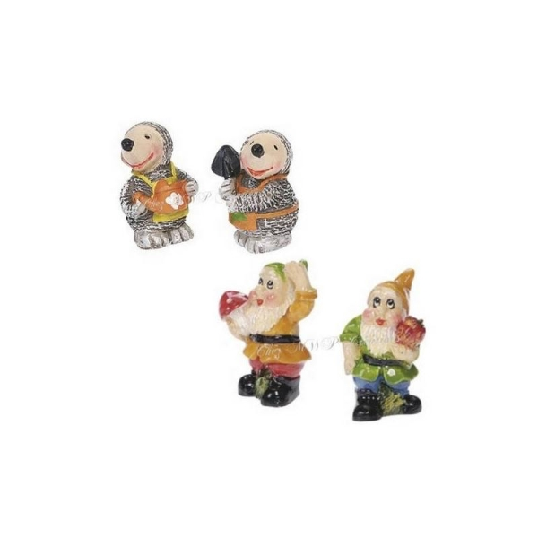Lot De 4 Petites Sujets Miniatures (Taupes Ou Nains) - Photo n°1