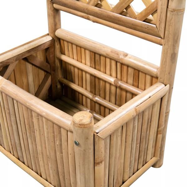 vidaxl jardini re avec treillis bambou 40 cm pots et. Black Bedroom Furniture Sets. Home Design Ideas
