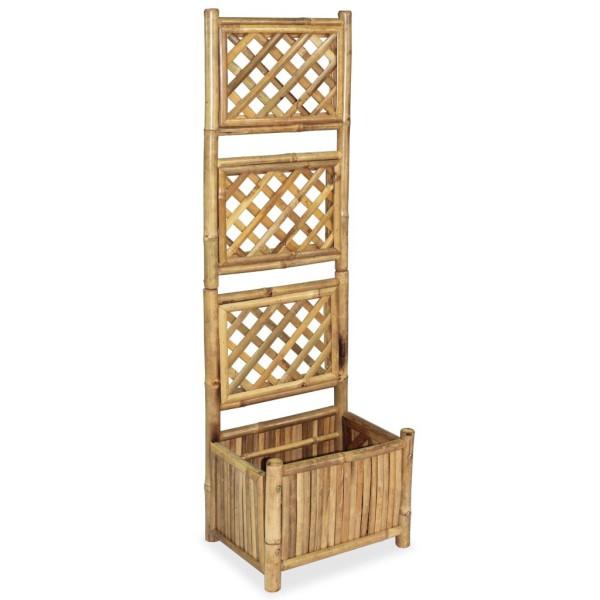 Vidaxl jardini re avec treillis bambou 40 cm pots et cache pots creavea - Jardiniere treillis ...