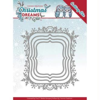 Dies - Yvonne Creations - Christmas Dreams - Bordures de Noël 9,4 x 10,3 cm.