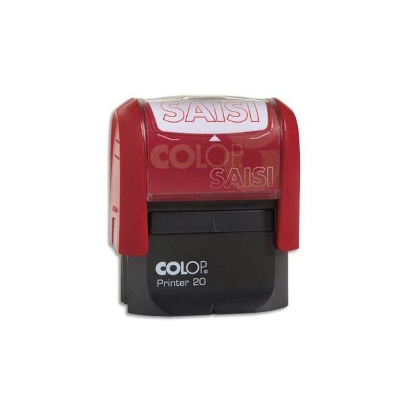 COLOP Timbre à encrage automatique , empreinte rouge 38x14 mm : SAISIE - Photo n°1