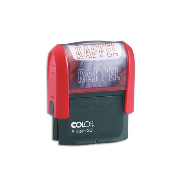 COLOP Timbre à encrage automatique , empreinte rouge 38x14 mm : RAPPEL - Photo n°1