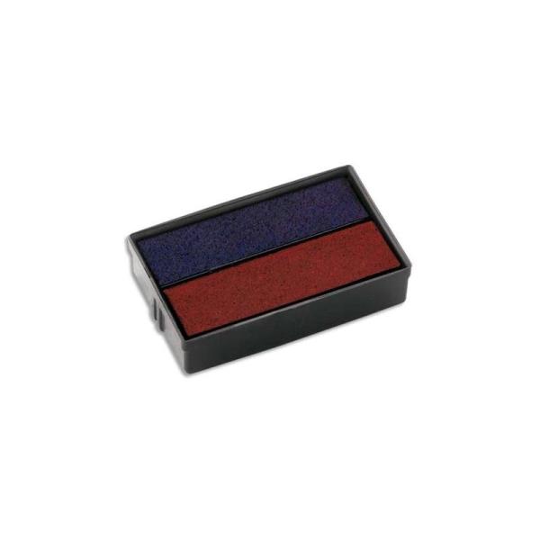 COLOP Blister 2 encriers E10/2 bicolore pour mini dateur S160/L1-L2-L3 - Photo n°1