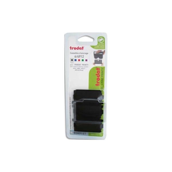 DORMY Boite de 10 recharges préencrées noire K/2 compatible 4912/4952 - Photo n°1