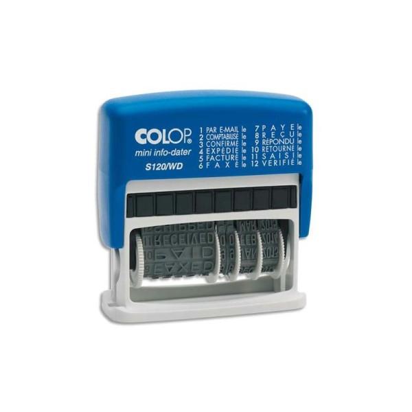 COLOP Dateur multiformules 12 formules à encrage automatique S120WD - hauteur des caractères 4 mm - Photo n°1