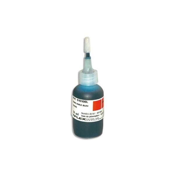TIFLEX Encre à tampon sans huile , pour timbres caoutchoucs, flacon de 30ml bleu - Photo n°1