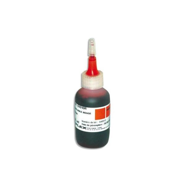 TIFLEX Encre à tampon sans huile , pour timbres caoutchoucs, flacon de 30ml rouge - Photo n°1