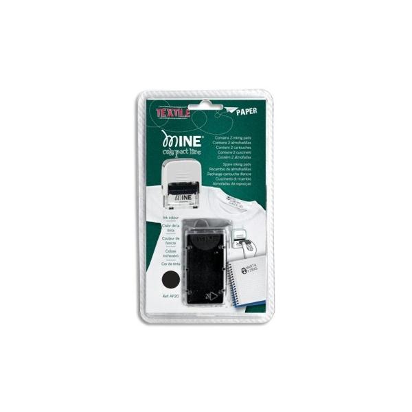 1435e4d6e84bd COLOP Blister 2 recharges Noires spécial textile pour tampon Printer ...
