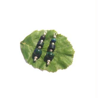 Pendentifs Azurite Chrysocolle 2,7 CM de hauteur x 6 MM de diamètre