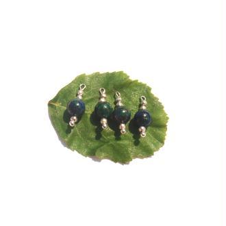 Azurite Chrysocolle : 4 MICRO breloques 1,6 CM de hauteur x 6 MM