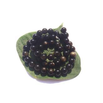 Obsidienne dorée : 10 perles 8 MM de diamètre