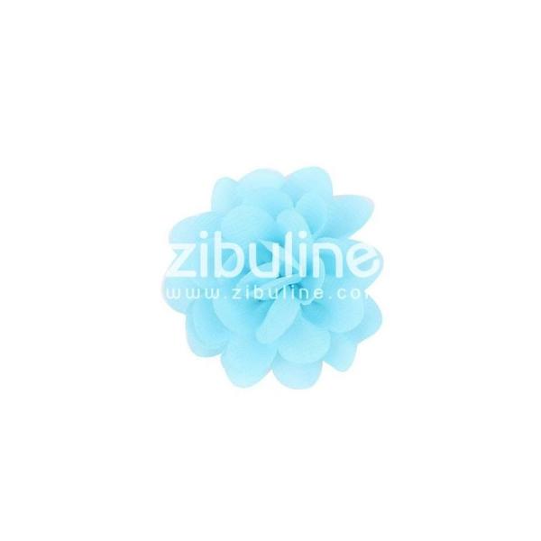 Fleur chiffon - Bleu clair - Photo n°1