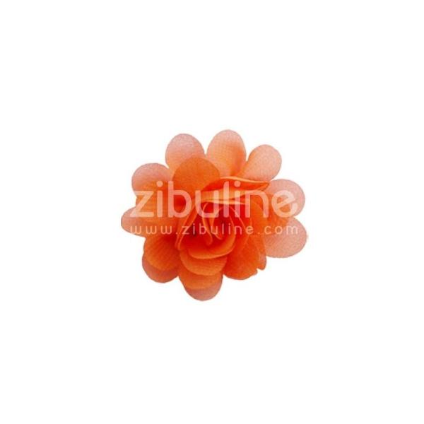 Fleur chiffon - Orange - Photo n°1