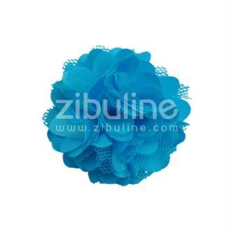 Fleur dentelle - Bleu