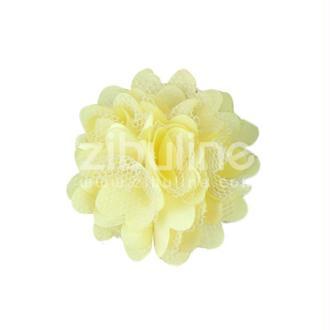 Fleur dentelle - Jaune pâle