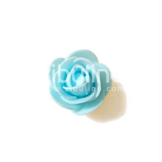 Fleur en mousse - Bleu clair