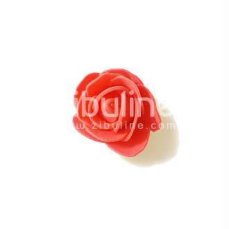 Fleur en mousse - Rose orangé