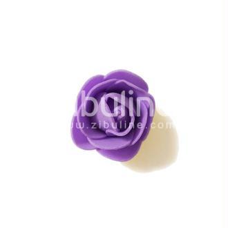Fleur en mousse - Violet
