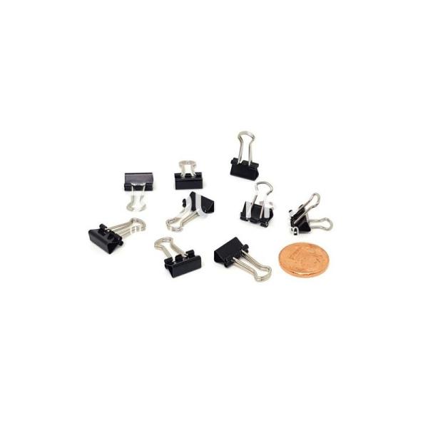 Mini clips métal - Noir - Photo n°1