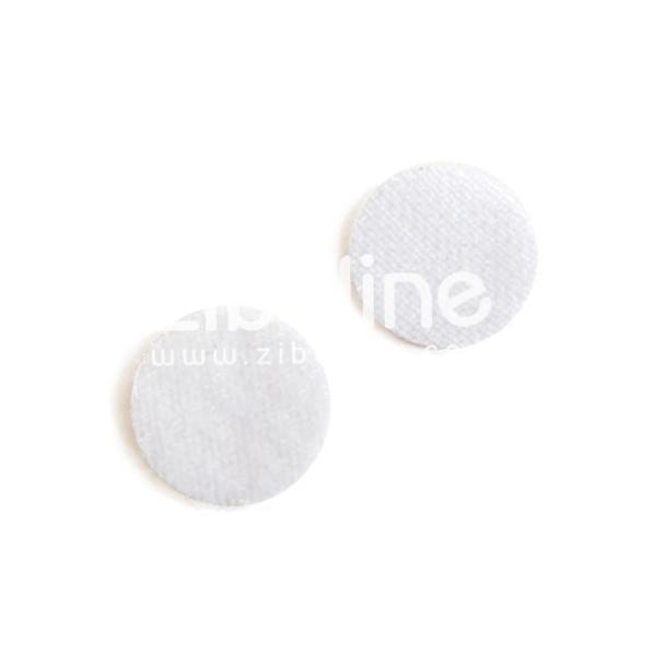 Pastille velcro ronde - Blanc - Photo n°1