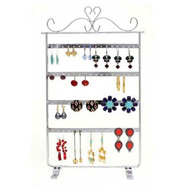 Porte bijoux porte boucle d'oreille cadre baroque (32 paires) Cuivre patiné - Photo n°3