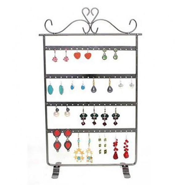 Porte bijoux porte boucle d'oreille cadre baroque (32 paires) Cuivre patiné - Photo n°1