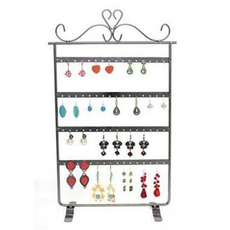 Porte bijoux porte boucle d'oreille cadre baroque (32 paires) Cuivre patiné