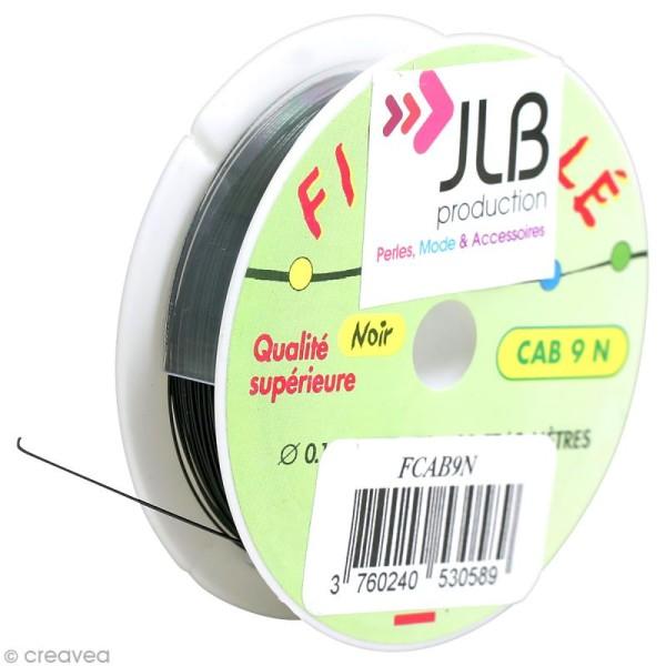 Bobine de fil cablé noir - 0,45 mm - 9 mètres - Photo n°1