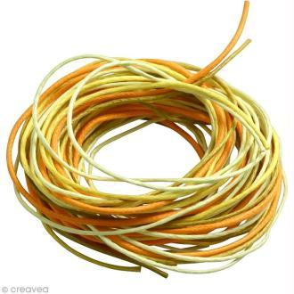 Fil coton 0,7 mm - Camaïeu Jaune et orange - 5 mètres