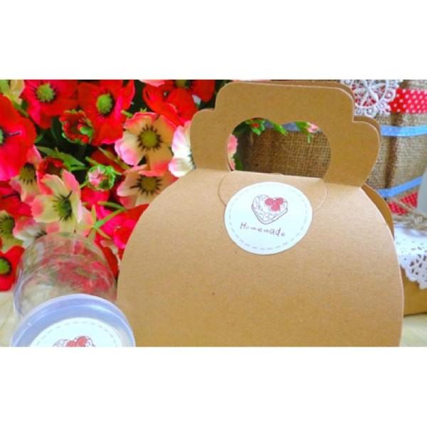 60 Etiquettes Homemade, fait maison, stickers adhésifs pour vos gâteaux, confiseries, confitures - Photo n°2