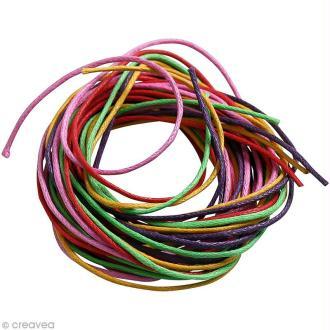 Fil coton 0,7 mm - Camaïeu Multicolore - 5 mètres