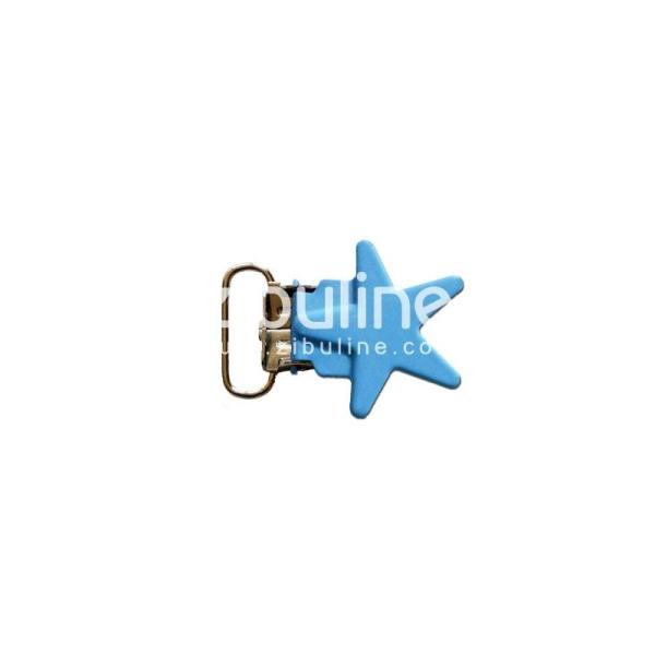 Pince métal étoile - Bleu clair - Photo n°1
