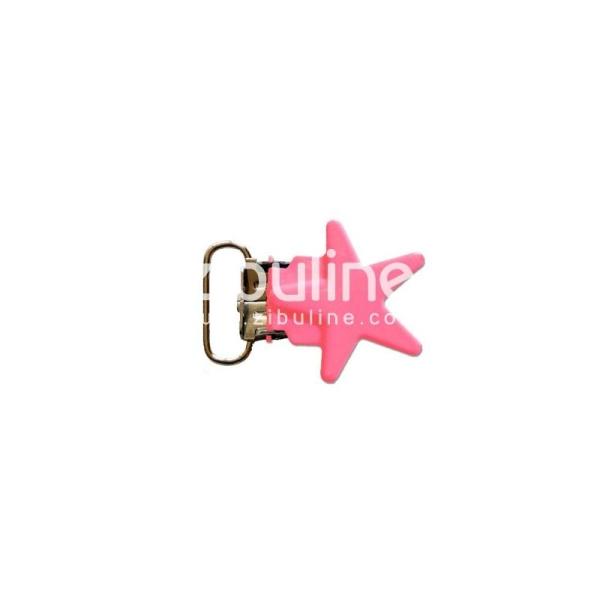 Pince métal étoile - Fuchsia - Photo n°1