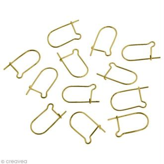 Fermoirs boucle d'oreille crochet 13 x 9 mm - Bronze - 12 pcs
