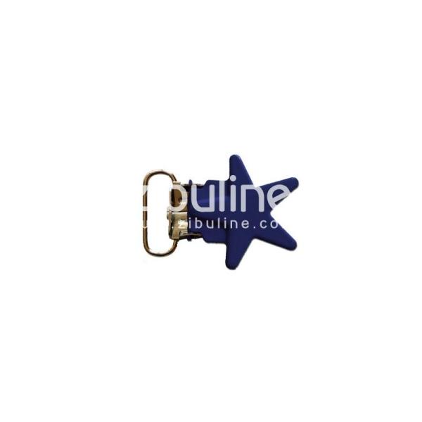Pince métal étoile - Marine - Photo n°1