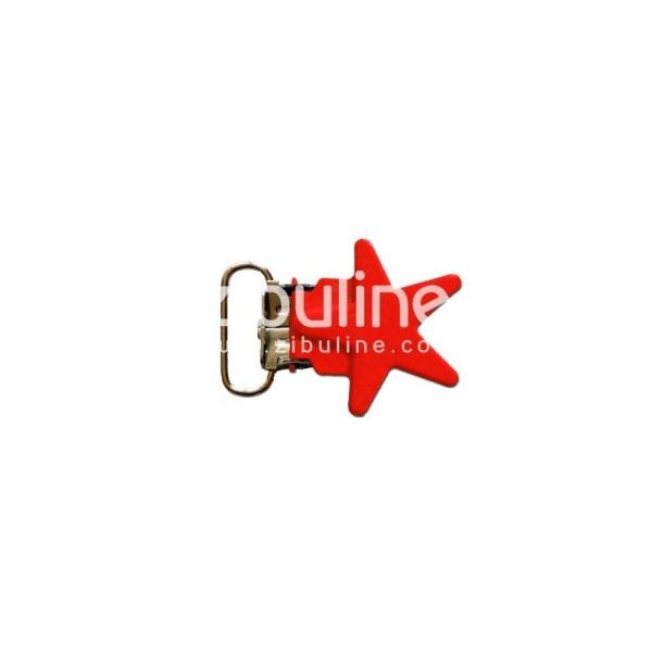 Pince métal étoile - Rouge - Photo n°1