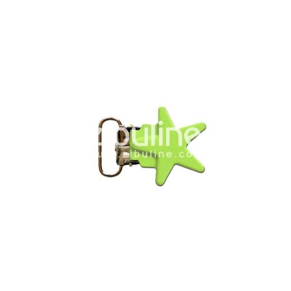 Pince métal étoile - Vert anis - Photo n°1