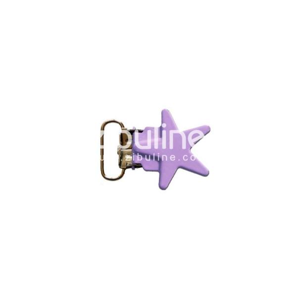 Pince métal étoile - Violet clair - Photo n°1