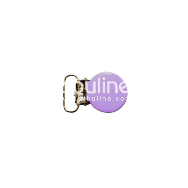 Pince métal ronde - Violet clair - Photo n°1