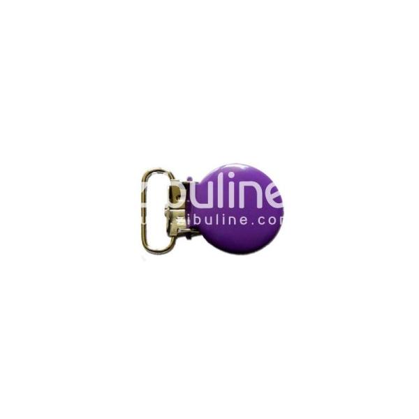 Pince métal ronde - Violet foncé - Photo n°1
